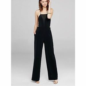 Express • Sheer Panel Cut Out Halter Jumpsuit